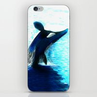 orca iPhone & iPod Skins featuring Orca by Artwork by Alex