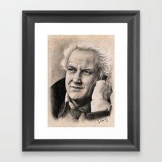 INSPECTOR MORSE OR JOHN THAW  Framed Art Print