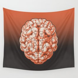 Puzzle brain GINGER / Your brain on puzzles Wall Tapestry