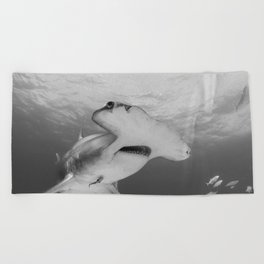 Greatness in Black & White Beach Towel