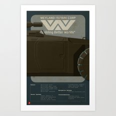 M577 Armored Personnel Carrier Tritych II/III Aliens APC Art Print