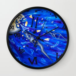 Shattered Time Wall Clock