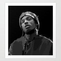 asap rocky Art Prints featuring ASAP Rocky by Léo Faulhaber