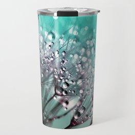 Diamond Blue Water Droplets Travel Mug