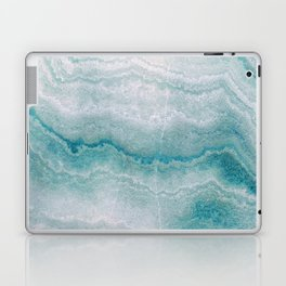 Sea green marble texture Laptop & iPad Skin