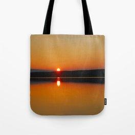 Sunset at the Lake Tote Bag