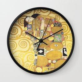 Gustav Klimt - Tree of Life (detail) 1909 Wall Clock