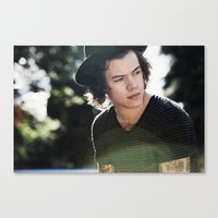 harry styles Canvas Prints featuring Harry Styles  by Becca / But-Like-How