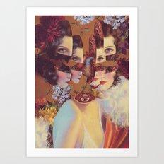 frame of mind *collage Art Print