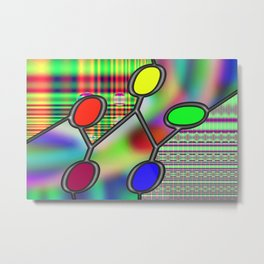 Interconnected zeros Metal Print