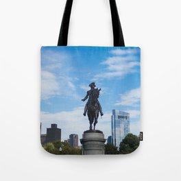 Boston Public Garden Washington Statue Tote Bag