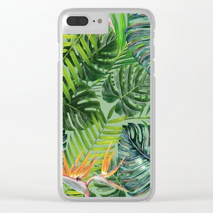 Jungle Tangle Paradise Clear iPhone Case