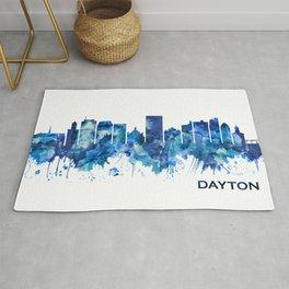 Dayton Ohio Skyline Blue Rug