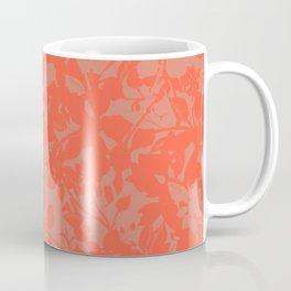 Coral Botanical Pattern - Broken but Flourishing Coffee Mug