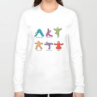 buddah Long Sleeve T-shirts featuring Yoga basics by Intuitive Whimsy