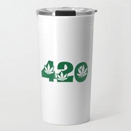 420 Weed Leaf Slogan Design! Travel Mug