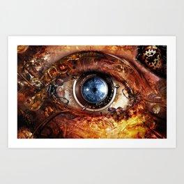 Steampunk camera's eye. Art Print