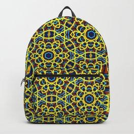 Beautiful Yellow Blue and Orange Beaded Art Print Backpack