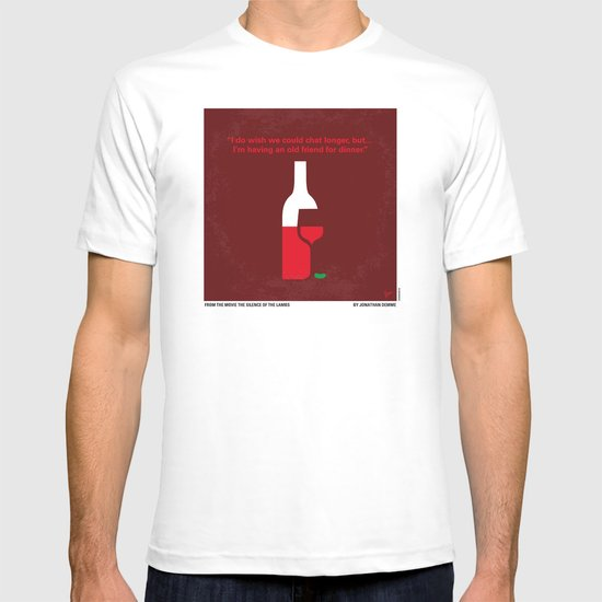No078 My Silence of the lamb minimal movie poster T-shirt