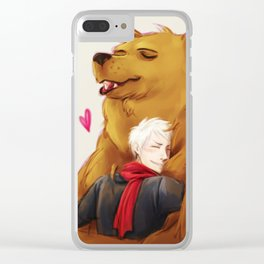 APH: 2pBear hug Clear iPhone Case