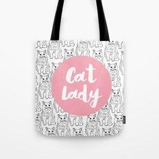 Cat Lady Cat Pattern Tote Bag