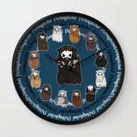 thorin Wall Clocks featuring Dwarpacas(Thorin) by Lady Cibia