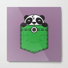 Pocket Panda Metal Print