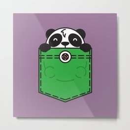 Pocket Panda Metal Print