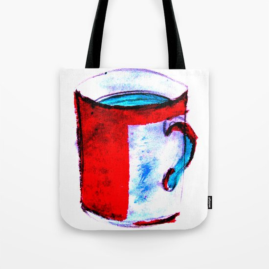 big coffee cup Tote Bag