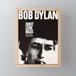 Vintage 1967 Don't Look Back Bob Dylan Movie Poster Framed Mini Art Print