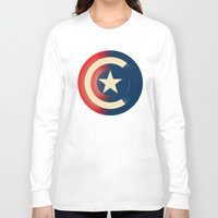 captain Long Sleeve T-shirts featuring Captain by Ian Wilding