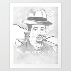 smoke of 40s Art Print