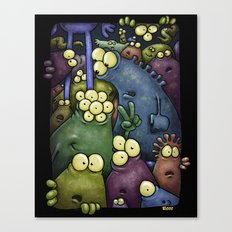 Crowd of Aliens Canvas Print