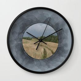 Landscape Series Blue Wall Clock