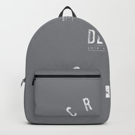 Creme de la Creme - joie de vivre Grey Backpack