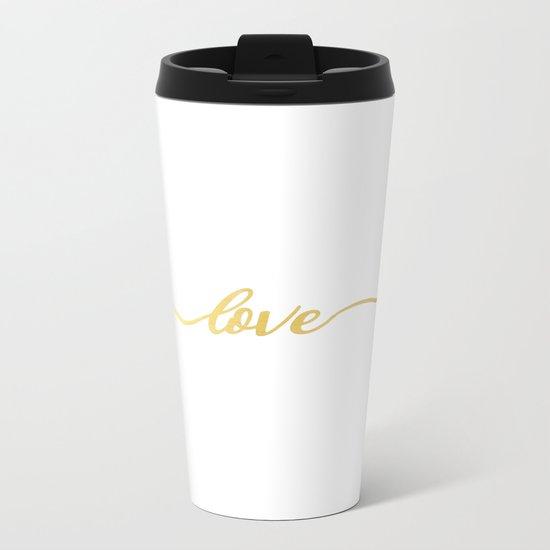 golden love Metal Travel Mug