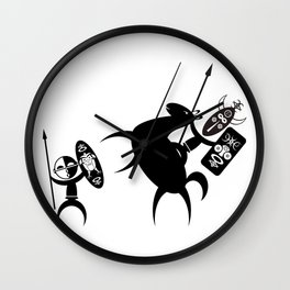 African Fight Wall Clock