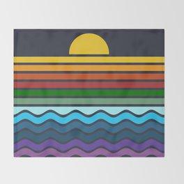 Geometric Rainbow Nature Throw Blanket