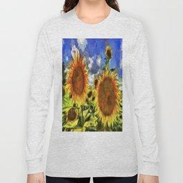 Sunflowers Van Goth Long Sleeve T-shirt