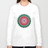plaid Long Sleeve T-shirts featuring Plaid Flower by Peter Gross