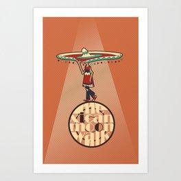 Mexican Moon Walk Art Print