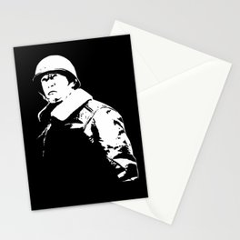 General George Patton - Black and White Stationery Cards