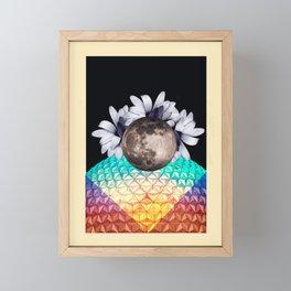 Beyond the moon and back Framed Mini Art Print