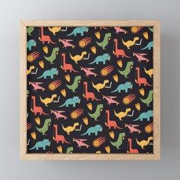 Pizza Dinos Framed Mini Art Print