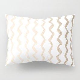 Golden Zigzag Pillow Sham
