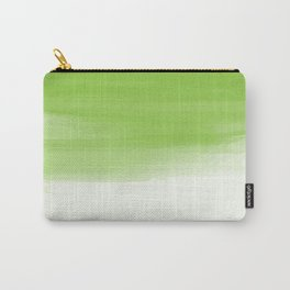 Green abstract brush strokes pattern Carry-All Pouch