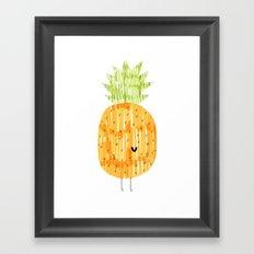 EAT YOUR FRUIT! // PINEAPPLE Framed Art Print