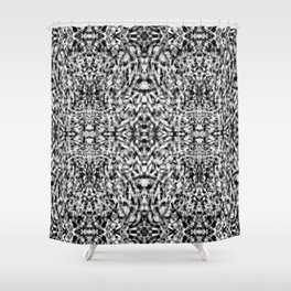 Black and White Windstorm Shower Curtain