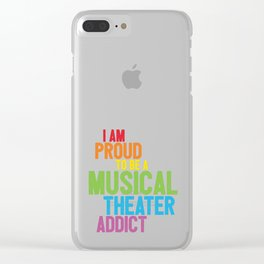 Musical Theater Pride Clear iPhone Case