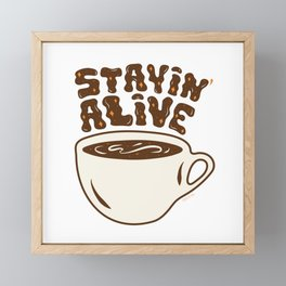Stayin' Alive in Orange Framed Mini Art Print
